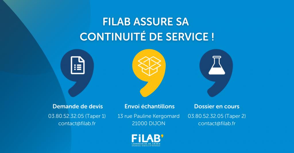 la continuité de services du laboratoire FILAB pendant le confinement